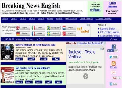 Páginas webs para aprender inglés