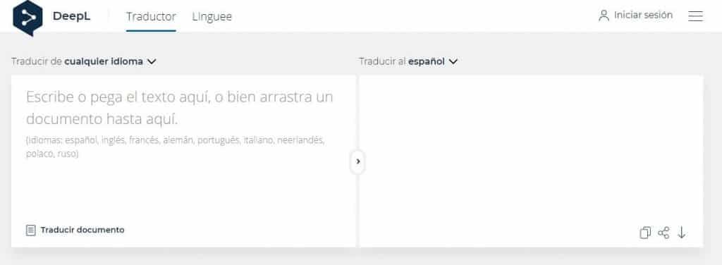 DeepL traductor online
