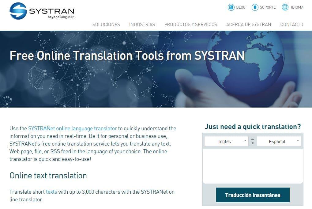 Systran,, traducción automática