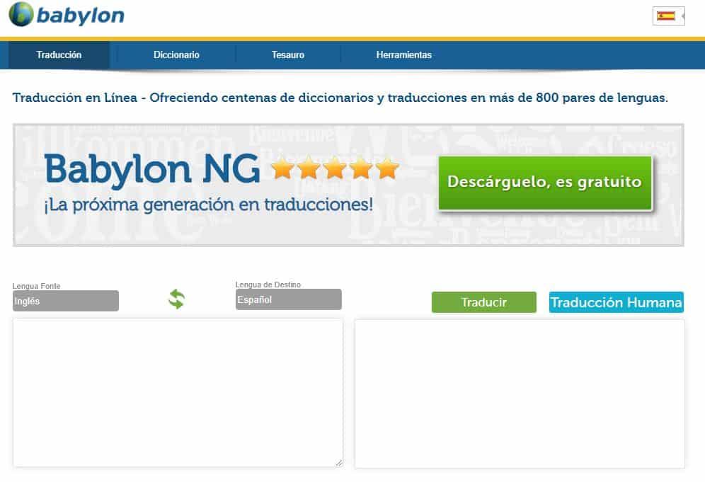 Babylon traductor online